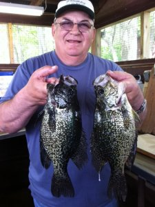 Nice Crappies caught here